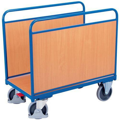 Carro ergonómico com 2 taipais em madeira – Capacidade de 500kg