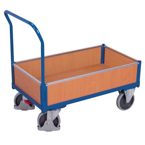 Carro ergonómico em madeira com paredes amovíveis – Capacidades de 400 e 500kg