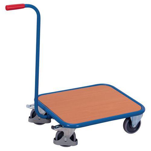 Carro com pescoço de cisne e plataforma em madeira – Capacidade de 250kg