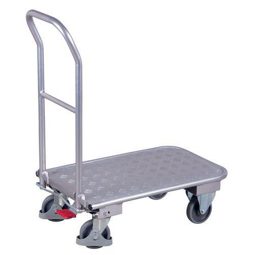 Carro de alumínio ergonómico – Espaldar rebatível – Capacidade de carga de 150kg