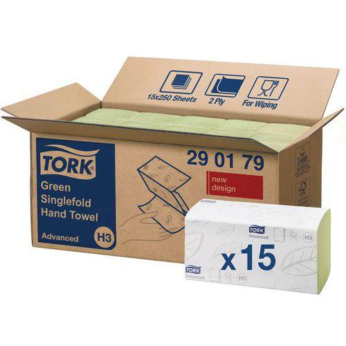 Toalhetes verdes Tork Advanced H3 - Sobrepostos