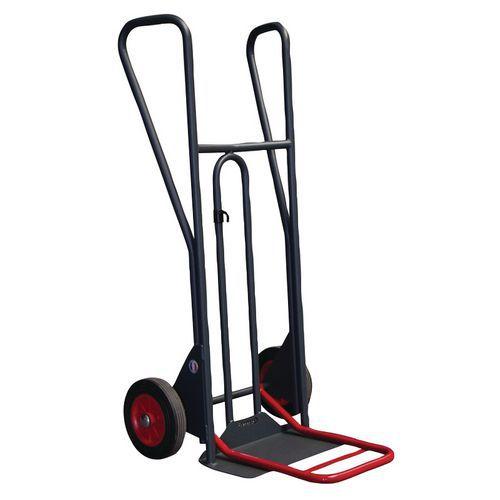 Transportador em aço ergonómico de 350kg – Rodas em borracha