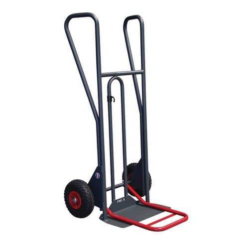 Porta-cargas em aço ergonómico – Rodas pneumáticas – Capacidade de carga de 350kg