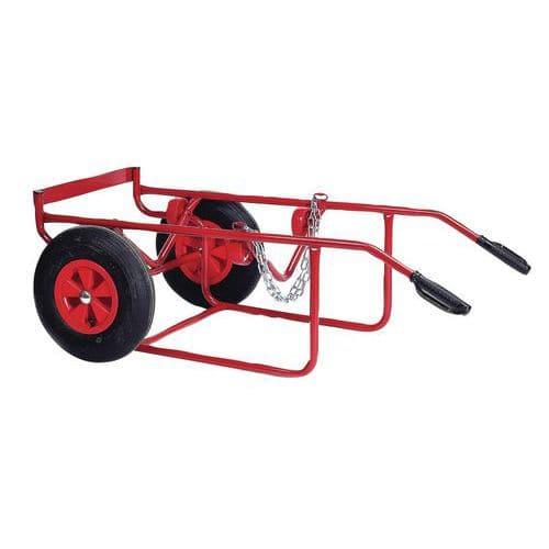 Porta-cargas ergonómico para bidões – Rodas em borracha – Capacidade de carga de 250kg