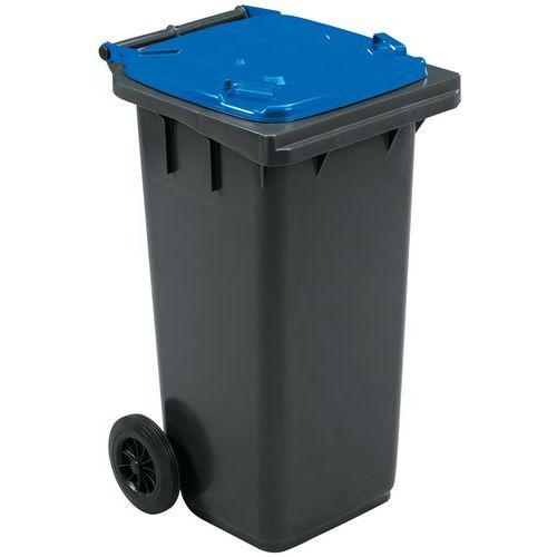 Contentor móvel para separação de resíduos – 120 L – Manutan