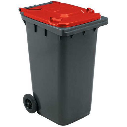 Contentor móvel para separação de resíduos – 240 L – Manutan
