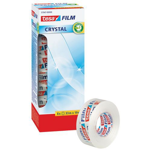 Fita adesiva TESA Crystal 33m x 19mm - Conjunto de 8