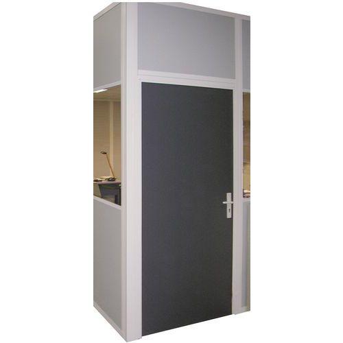 Porta rebatível para divisórias de oficina em chapa de aço ou melamina - Painel integral - Altura 2,75 m