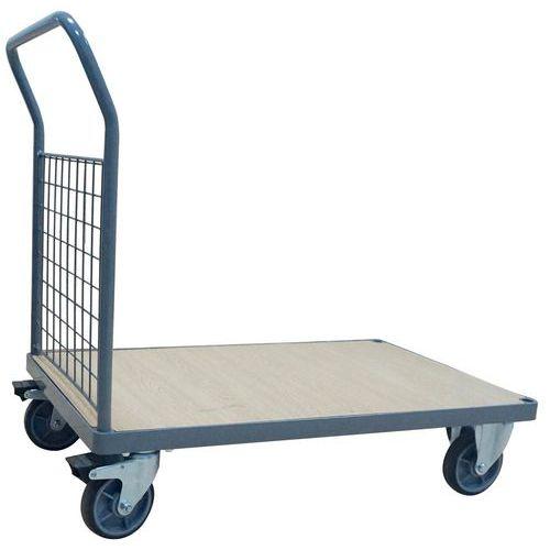 Carro de aço – 1 espaldar fixo gradeado – 500kg – Manutan