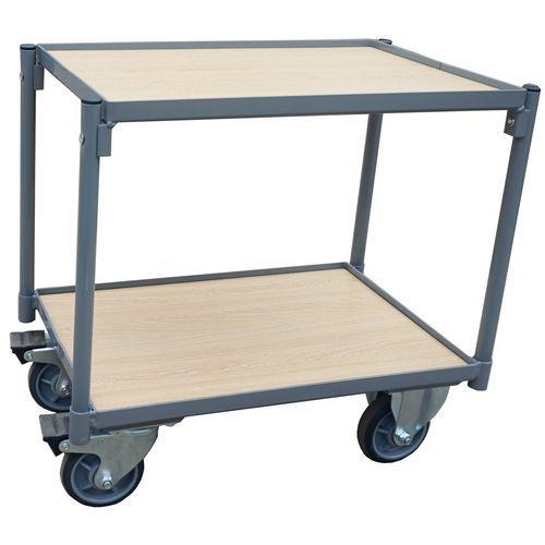 Carro plataf. madeira para caixas - Capac.: 250 kg - Manutan