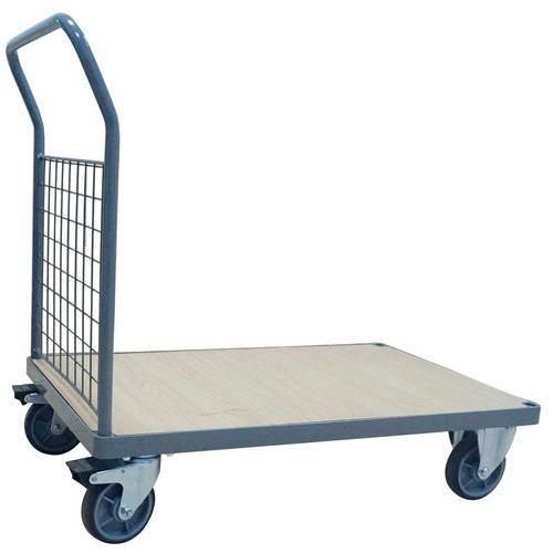 Carro com espaldar gradeado – Capacidade de 400 a 500kg – Manutan