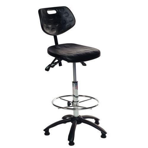 Cadeira ergonómica em poliuretano Domino - Alta