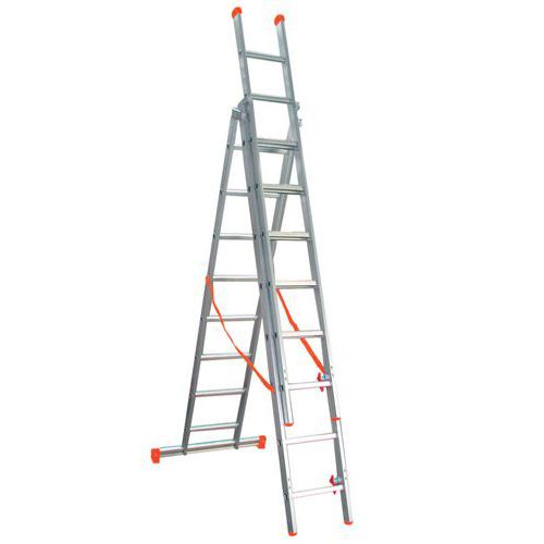 Escada com autoestabilizador Éco - 3 secções
