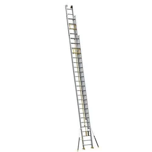 Escada extensível de 3 secções com estabilizadores