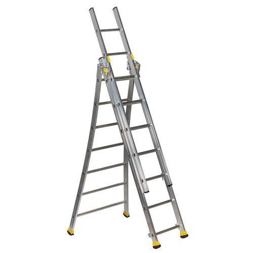 Escada transformável com base alargada – 3 secções
