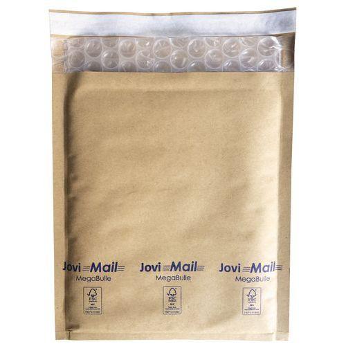 Envelope Kraft de 109g/m² com bolhas grandes Jovimail MegaBulle – castanho