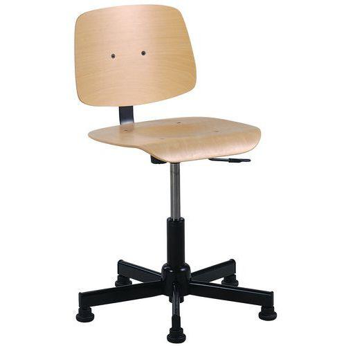Cadeira de oficina baixa - Com patins/rodízios