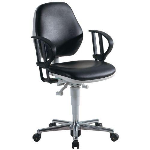 Cadeira para salas brancas Bimos 9140 - Baixa - Com rodízios