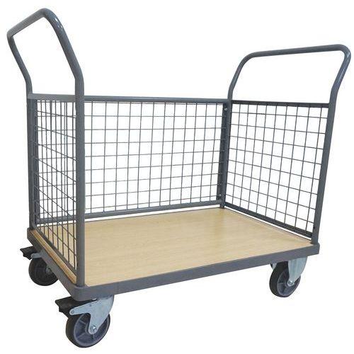 Carro com 3 paredes gradeadas – Capacidade: 500kg – Manutan
