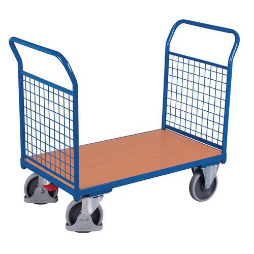Carro ergonómico com painéis gradeados – 2 espaldares – Capacidade de 500kg