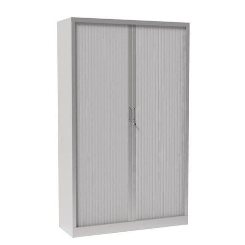 Armário com portas de persiana, sem plataforma superior - Cinza claro