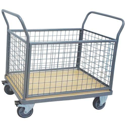 Carro com 4 paredes gradeadas – Capacidade: 500kg – Manutan