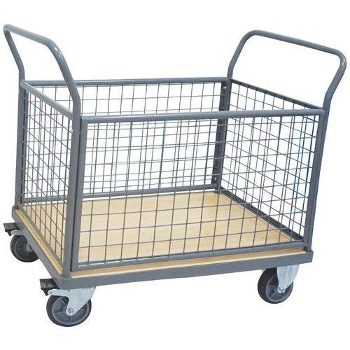 Carro com 4 espaldares gradeados – Capacidade de 400 a 500kg – Manutan