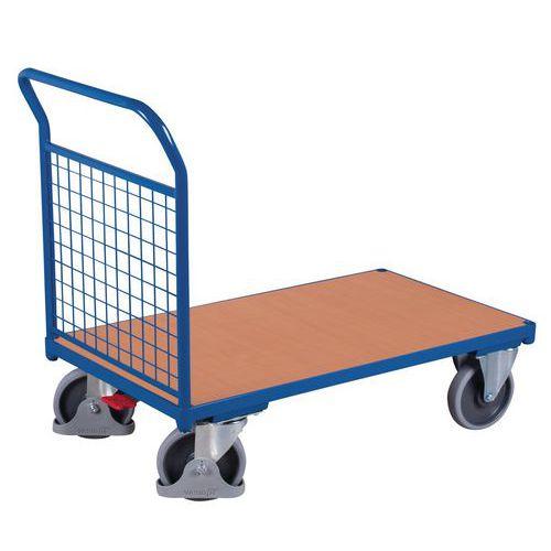 Carro ergonómico com painéis gradeados – 1 espaldar – Capacidade: 400 e 500kg