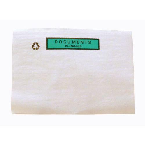 Bolsa porta-documentos – com e sem impressão – papel transparente – conjunto de 1000