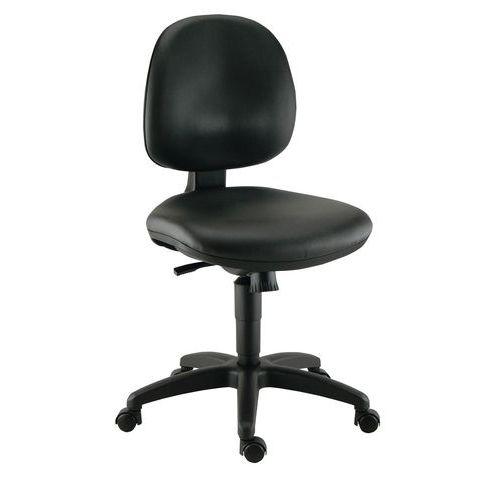 Cadeira de oficina ergonómica baixa, TP – Com rodízios