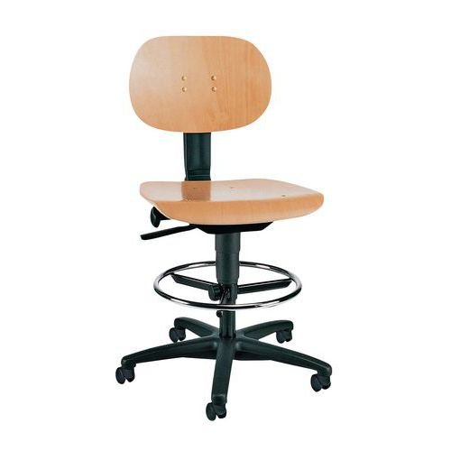 Cadeira de oficina TEC - Alta - Com patins/rodízios