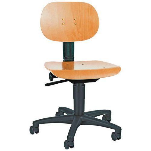 Cadeira de oficina TEC - Baixa - Com rodízios