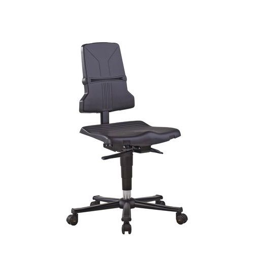Cadeira de oficina Bimos Sintec ESD – Baixa – Com rodízios – Com regulação da inclinação