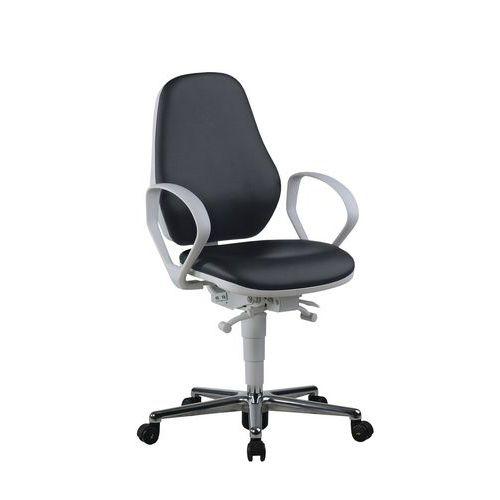Cadeira baixa para sala, branca Bimos 9142 – Ergonómica