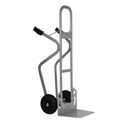 Porta-cargas em aço - Rodas pneumáticas - Capacidade de 350kg