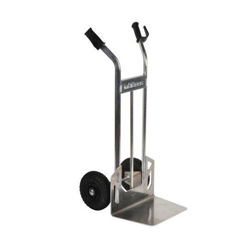 Porta-cargas em alumínio - Rodas pneumáticas - Capacidade de 200kg