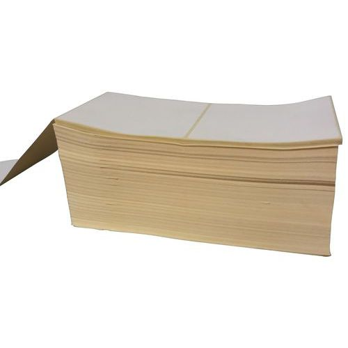 Tira de etiquetas de papel velino branco
