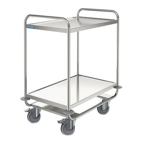 Carro inox - 2 plataformas - Capacidade 160 kg