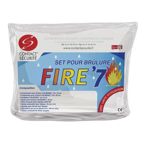 Conjunto de primeiros socorros p/ tratamento de queimaduras