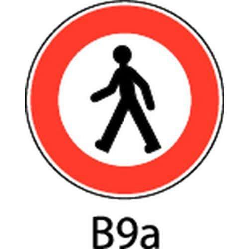 Painel de sinalização - B9a - Acesso proibido a peões