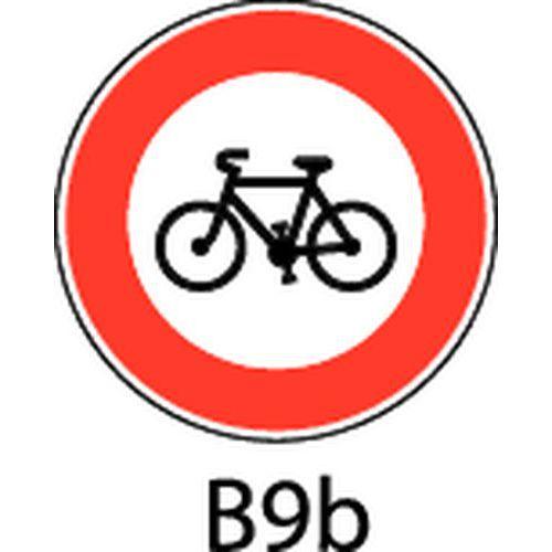 Painel de sinalização - B9b - Acesso proibido a velocípedes