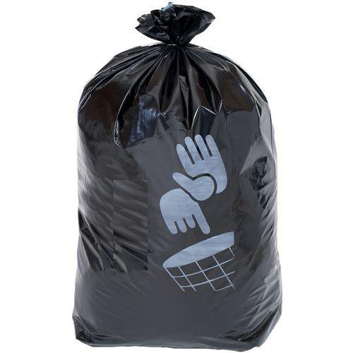 Sacos de lixo pretos – Resíduos pesados – 60 a 160L – Manutan