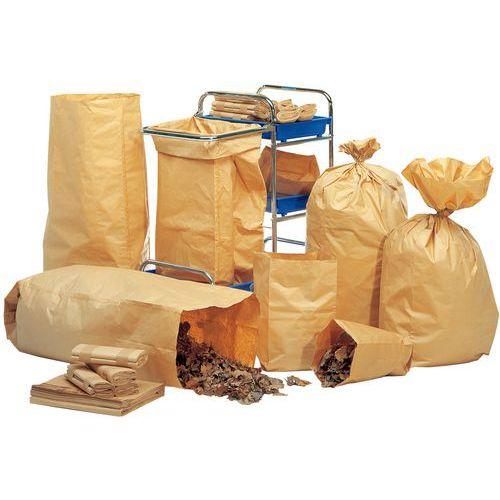 Saco de lixo de papel biodegradável – resíduos verdes – 70 a 140L