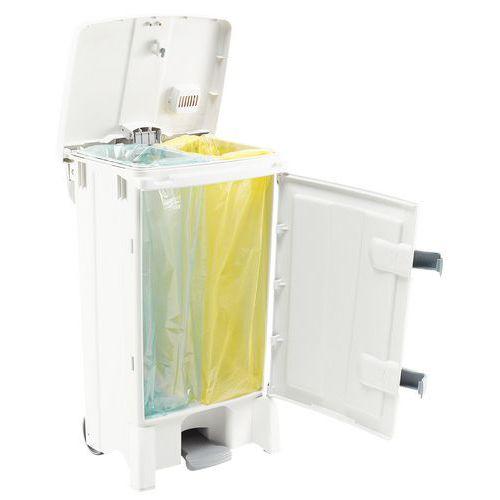 Caixote de lixo agroalimentar com abertura central – 90L