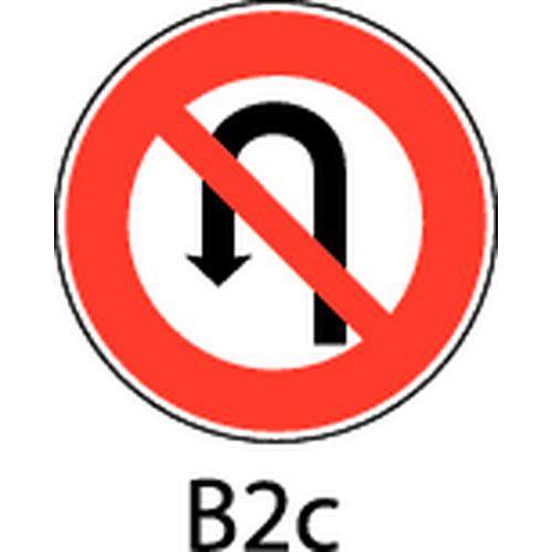 Painel de sinalização - B2c - Proibição de fazer inversão de marcha à esquerda