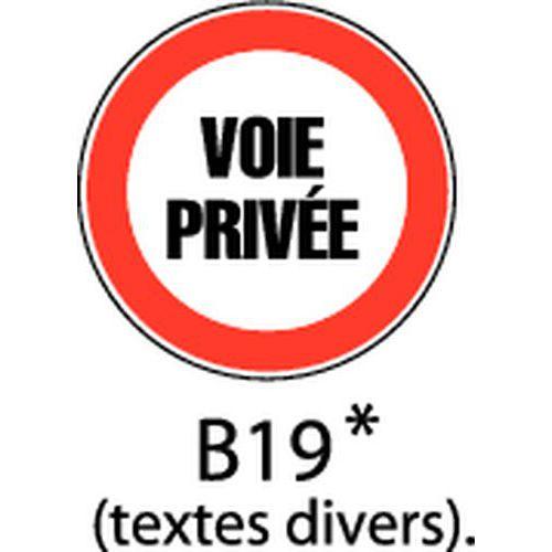 Painel de sinalização - B19 - Texto 1 linha