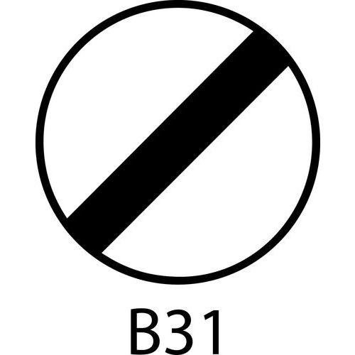 Painel de sinalização - B31 - Fim de todas as proibições impostas anteriormente por sinalização a veículos em