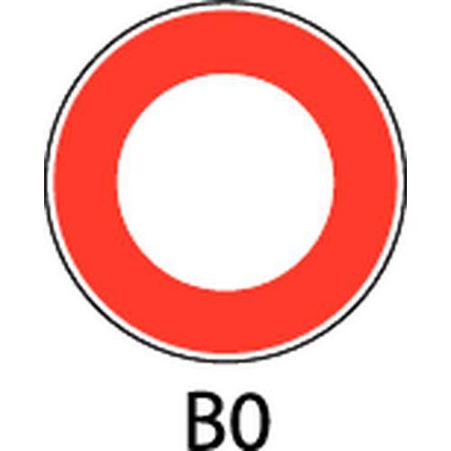 Painel de sinalização - B0 - Circulação proibida nos 2 sentidos