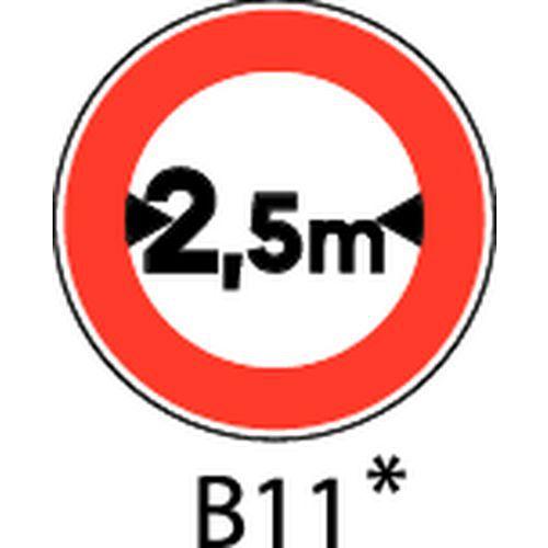 Painel de sinalização - B11 - Largura máxima a indicar