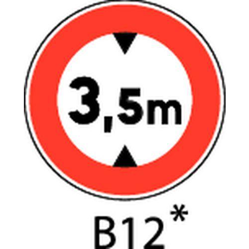 Painel de sinalização - B12 - Altura máxima a indicar